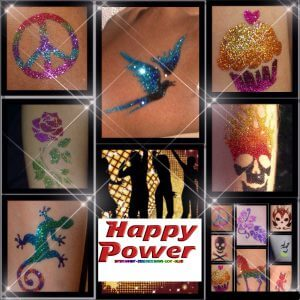 glitter tattoos kinderdisco